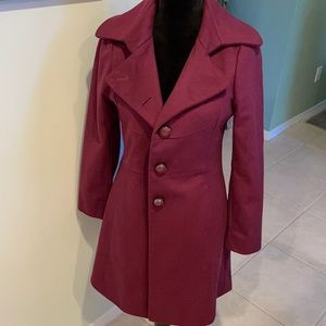 Kenneth Cole New York Cranberry Peacoat